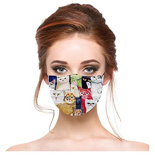 SOMESUN Erwachsene Mundschutz mit Motiv Bunt Mund Nasenschutz Regenbogen Druck Maske Tücher Atmungsaktiv Mund-Tuch Bandana Halstuch Schals