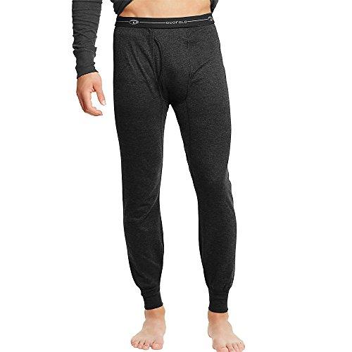 Champion Duofold Men's Thermals Mid-Weight Base-Layer Underwear Black