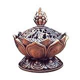 CandyTT Heiliger tibetischer Lotus entworfener Weihrauchbrenner Zinklegierung Bronze Mini...