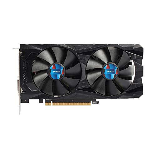 Docooler Yeston RX560D-4G D5 GAEA-Grafikkarten VR Ready Polaris 12 GDDR5 4 GB 128 Bit DP DVI-D GPU Dual Fan Cooling