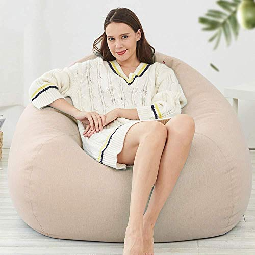Canapé lit LHY- Lazy Sofa Bean Bag Epp Simple Recliner Net Rouge Section Chambre Balcon Loisirs Tatami Chaise Doux (Color : Beige, Size : X-Large)