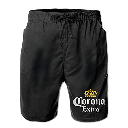 Corona Mens Breathable Beach Board Shorts Swim Trunks Quick Dry White