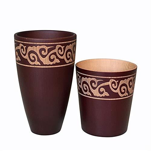 High Quality Cups Creative Japanse stijl Handgemaakt Houten Cup Inloggen Natural Retro Wood Thee Sap Mok van de Kop van de melk (Size : Small)