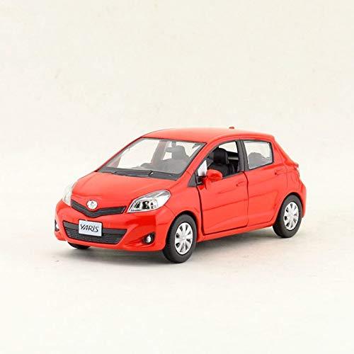 NMBD Auto Styling per Toyota Yaris 1:36 Lega Diecast Auto Model Trondato Auto (Color : Red)