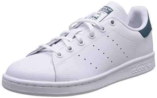 adidas Stan Smith J, Scarpe da Ginnastica Unisex-Adulto, Bianco (Ftwr White/Ftwr White/Tech Mineral Ftwr White/Ftwr White/Tech Mineral), 36 2/3 EU