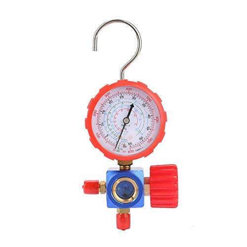 LKAIBIN Manómetro de manómetro y válvula de aire acondicionado 800psi 55kgf/cm² con espejo visual para R12 R502 R22 R410 R134A