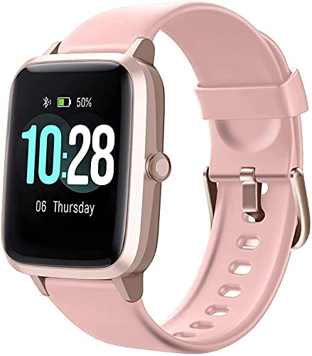 """Foronechi Smart Watch for Android/Samsung/iPhone, Activity Fitness Tracker with IP68 Waterproof for Men Women & Kids, Smartwatch with 1.54"""" Full-Touch Color Screen, Heart Rate & Sleep Monitor, Gun"""