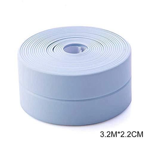 iSunday Selbstklebendes Klebeband für Badewanne/Dusche/WC/Küche/Wandabdichtung wasserdicht schimmelfest, PVC, blau, 3.2Mx2.2cm
