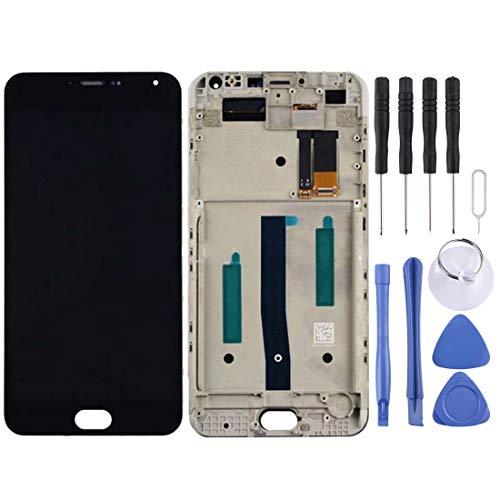 LUOFUSHENG LCD Piezas reparación de la Pantalla Meizu M2 Note/Meilan Note 2 Pantalla LCD Ensamblaje de digitalizador de Pantalla táctil con Marco (Color : Black)