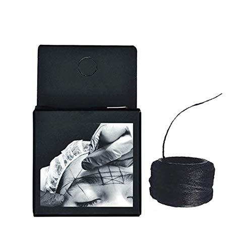 Draulic Augenbrauen Vorgefaerbter Faden Mikroblading, Mapping String,Microblading Zubehoer, Augenbrauen Mapping Werkzeug