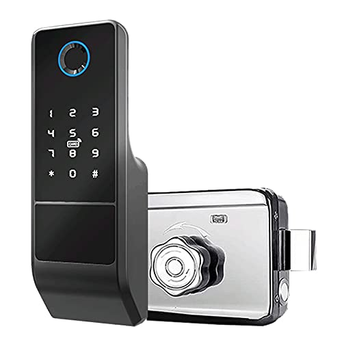 Tuya Smart Lock,Fingerprint Deadbolt Door Lock with Keypad Keyless Entry Electronic Digital Lock,Waterproof Outdoor Smart IP65 Door Lock