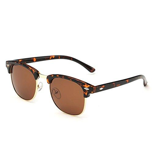 QHGstore Uomini Donne Sport Occhiali da sole polarizzati occhiali di protezione UV di vetro di Sun Tortoise / Brown