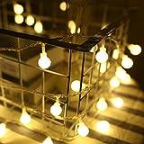lanrentao 9.8Ft 20leds Globe String Lights USB Waterproof Decorative Lights for Indoor Outdoor Party Wedding Christmas Tree Garden Warm White (9.8Ft 20leds, Warm White-Globe)