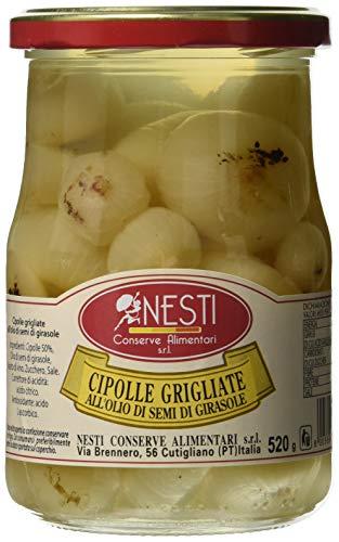 Nesti Conserve Alimentari Cipolle Grigliate all' Olio di Girasole - Pacco da 6 X 520 g