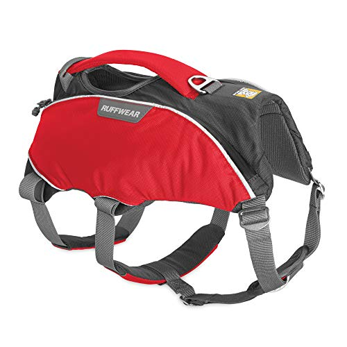 RUFFWEAR, Web Master Pro Dog Harness, Search and Rescue, Service Dogs, Snowboarding, Skiing, Everyday Wear, Red Currant, X-Small