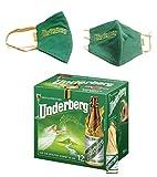 Underberg - UNDERBERG AMARO 12 BOTTIGLIETTE MIGNON DA 2 CL con 1 Mascherina 100% Cotone - IDEA REGALO