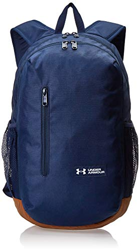Under Armour Roland B Mochila con Dos Compartimentos Grandes con Cremallera, Unisex Adulto, Azul (Academy/Sienna Brown/White 408), One Size Fits All