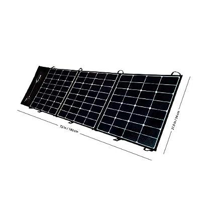 "Overland Tuff Ultralight 150W Folding Portable Monocrystalline 1""x22""x22"" (Folded) Solar Panel Array - ETFE Panel Coating for UV Efficiency and Protection, SunPower Cells,12V~18V 8.3A with MC4"