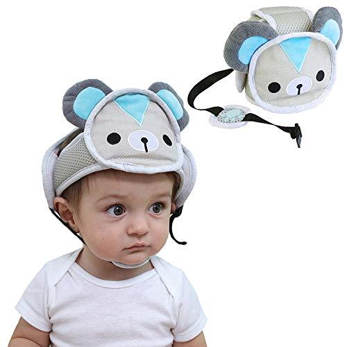 G-Tree Baby Verstellbare Kopfschutz Schutzhelm Säuglings Kopfschutz Hut Atmungsaktiv kopfschutz für Kleinkinder laufen lernen - Bär