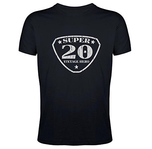 Tee Shirt Super 20 Vintage Homme Noir S S20-HNS