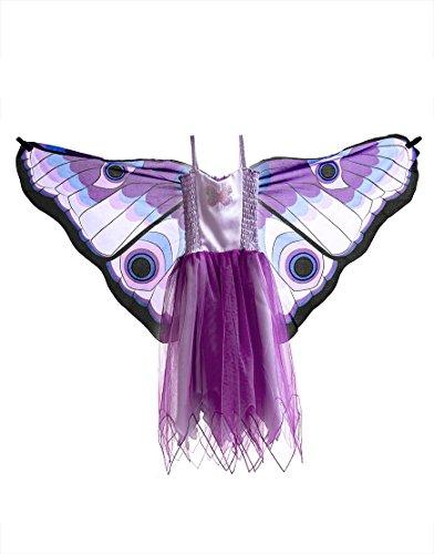 Dreamy Dress-Ups 50962 Dress, Purple Butterfly, M 6-7 YRS (costume/robe avec ailes cousues à l'arrière, papillon, violet)