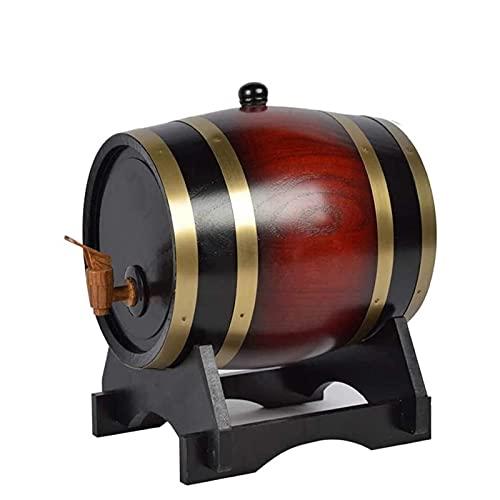 shandianniao Dispensador de Barril de Whisky, barriles de Roble en casa Whisky Barrel Decanter para Vino, Cerveza y espíritus, 5l, Color Retro (Color : Red)