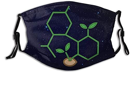 Hirola Gesichtsmaske Abdeckung CBD Molekül Cannabis Sprout Balaclava Bandanas Staubdicht Verstellbar Waschbar Wiederverwendbar Schutz Mit 6 Filtern