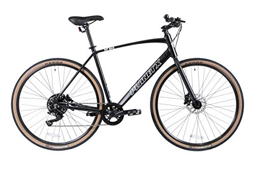 Planet X Fat Baz Hybrid Bike Adventure Cycle Road Bicycle With Disc Brakes (Satin Black Small)