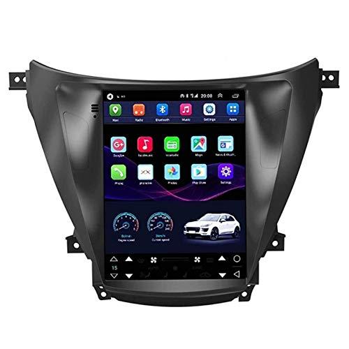WY-CAR Android 10 Coche Radio para Hyundai Elantra 2012-2016 Coche Estéreo GPS Navegación Táctil Mostrar Coche Media Player Doble DIN Head Att Support WiFi Volante Rueda,8 core-4G+WiFi: 1+16G