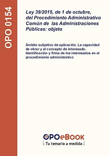 Ley 39/2015, de 1 de octubre, del Procedimiento Administrativo Común de las...