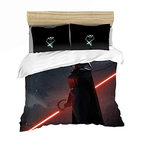 JWJW Star Wars Juego de cama de 2/3 piezas, funda de edredón de microfibra, cómodo, juego de cama (G - 200 x 200 cm)