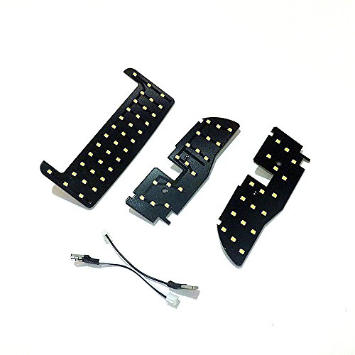 July King 3 pcs 72LEDs 2835SMD 6000K Blanco LED Interior Lectura Luces para Prius 30 Serie