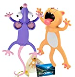 Ouch 3D Animal Bookmarks for Kids Students, Wacky Funny Christmas Cartoon squashed Bookmarks