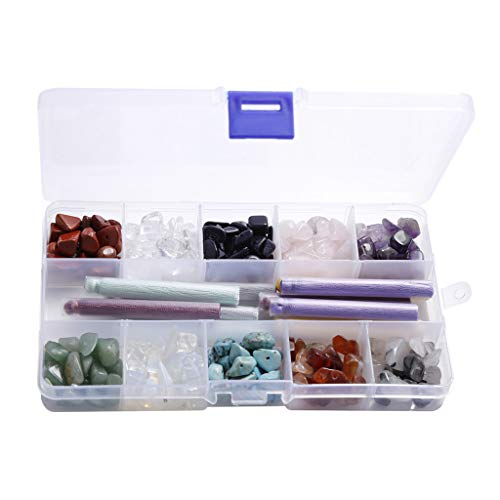 oshhni Pulsera de Perlas de Piedras Preciosas Naturales de Amatista de Cristal 340