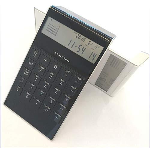 LYA Eeuwige kalender met wekker rekenmachine Business Office rekenmachine 8-cijferig geschikt voor financiële rekeningen, studie, kantoor