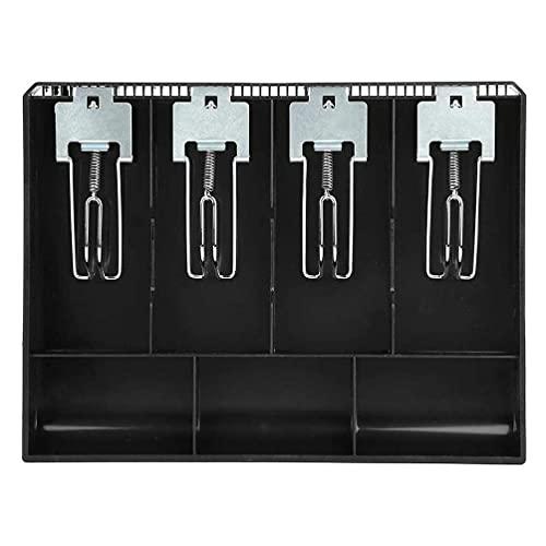 Wenyounge Bandeja de Caja registradora, Caja de Efectivo, cajón de Efectivo de plástico, Inserto de Caja registradora, Utilizado para Caja registradora con Caja de Almacenamiento de Monedas (Negro)