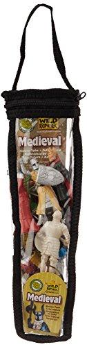 Medieval Plastic Figures Toy Tube
