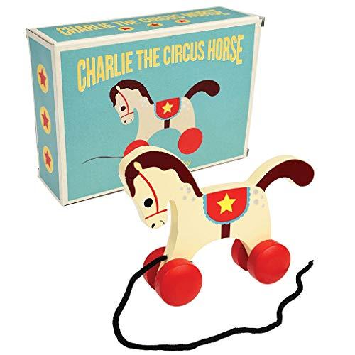Rex London Giocattolo in legno da tirare Charlie The Circus Hourse : cavallo circo, giocattolo per motorie
