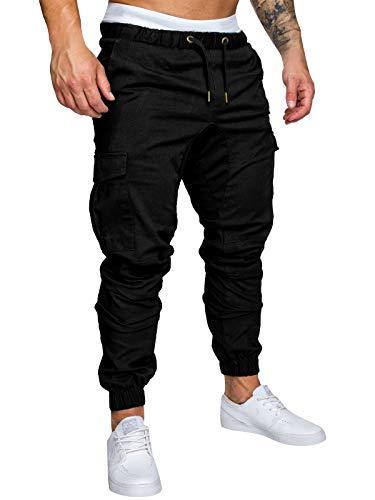Yidarton Men's Cargo Pants Slim Fit Casual Jogger Pant Chino Trousers Sweatpants(bk,m) Black