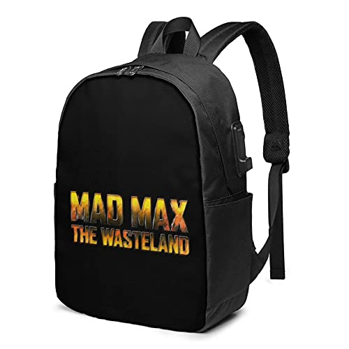 Mad Max mochila casual portátil bolsa escuela mujeres hombre alta Caity mochila USB puerto de carga mochilas
