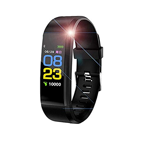 HUG PUPPY ID115 Plus Bluetooth Smart Fitness Band Watch for Men/Women with Heart Rate Activity Tracker Waterproof Body 1Pc Only