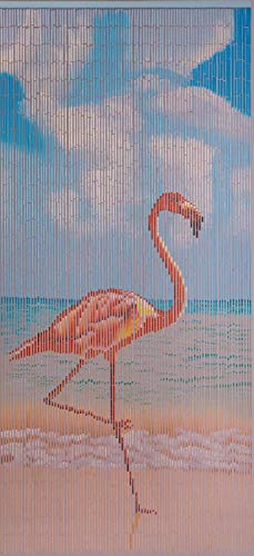 Coacord Deurgordijn, kamerverdeler, bamboe, bamboegordijn, flamingo, vliegengordijn, insectenbescherming