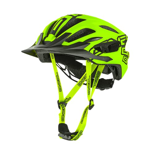 O\'NEAL | Mountainbike-Helm | Enduro All-Mountain | Effizientes Ventilationssystem, Größenverstellsystem, EN1078 geprüft | Helmet Q RL | Erwachsene | Neon-Gelb | Größe L/XL/XXL