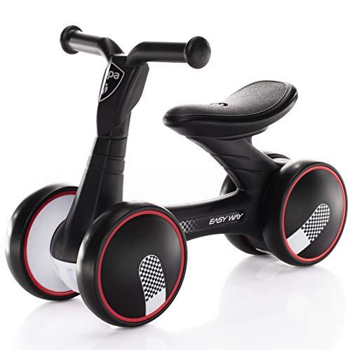 "Zopa Rutscher Easy-Way mit ""Silent Wheels"" ohne Pedale, ab 18 Monaten Kinder laufrad Balance Fahrrad (Racing Black)"