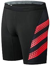Lefuyan Pantalones Cortos De Ciclismo Ropa Interior MTB Bicicleta Motocicleta Pantalones De Compresión,Rojo,XXXL