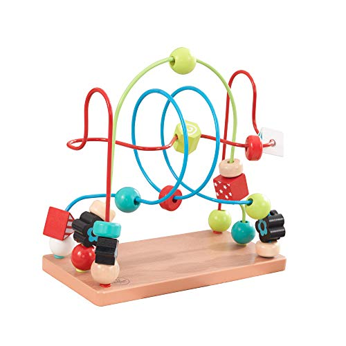 KidKraft 63241 Labyrinthe de perles en bois, jeu d'éveil premier âge, boulier enfant pour apprendre à identifier les couleurs, formes, lettres et chiffres
