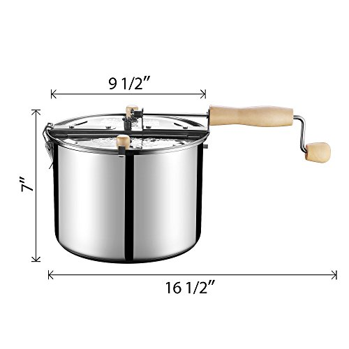 Product Image 4: Great Northern Popcorn Original Stainless Steel Stove Top 6-1/2-Quart Popcorn Popper