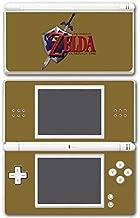 Legend of Zelda Link Ocarina of Time Gold Logo Master Sword Hylian Shield Video Game Vinyl Decal Skin Sticker Cover for Nintendo DS Lite System
