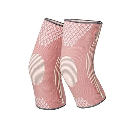 Rodilleras protectoras para múltiples deportes, color rosa, suaves y reutilizables, 2 paquetes de rodilleras, rodilleras de compresión para correr, ejercicio, gimnasio, senderismo, deportes (S)