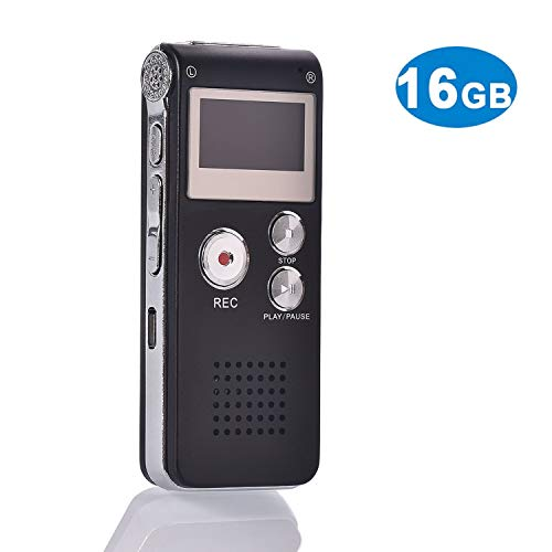 Voice Recorder USB-digitale voice-recorder, 16 GB audio-recorder met geactiveerd geluid dicteerapparaat, mini-draagbare voice-recorder met geïntegreerde microfoon